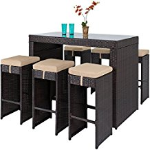 barstool-patio-dining-wicker-set Best Wicker Patio Dining Sets
