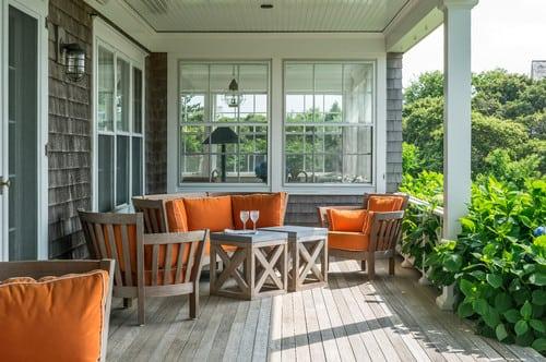 beach-style-porch-1 51 Teak Outdoor Furniture Ideas