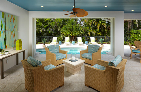 Beach Style Colorful Patio