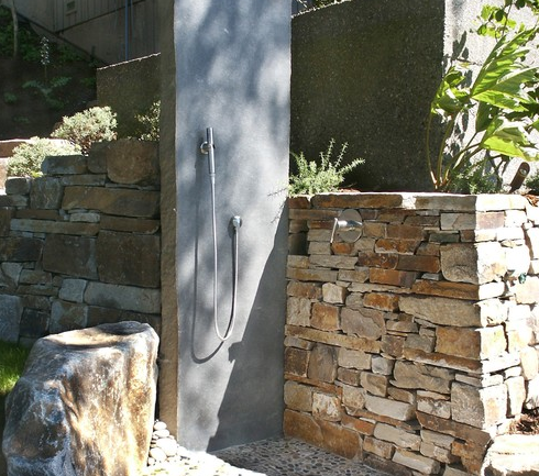 Basalt Slab Shower