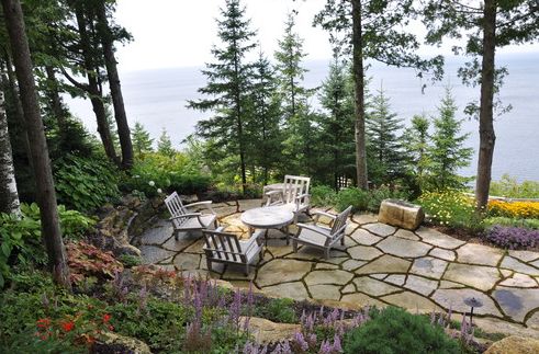 Natural Pavers Coastal Patio