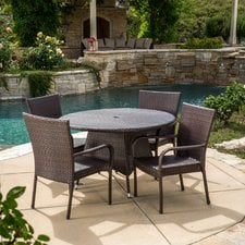 circle-5-piece-outdoor-wicker-dining-set Wicker Patio Dining Sets