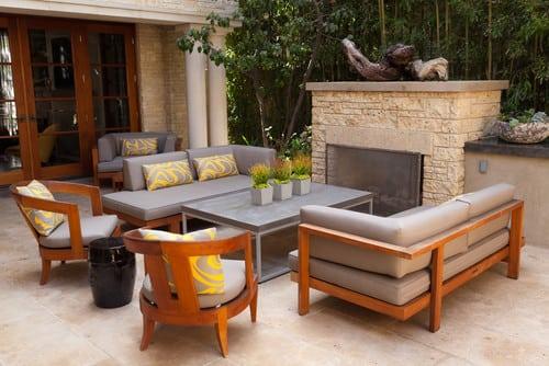 contemporary-landscape 51 Teak Outdoor Furniture Ideas