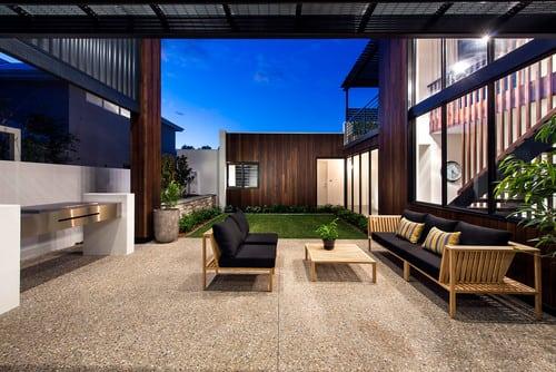 contemporary-patio-2 51 Teak Outdoor Furniture Ideas