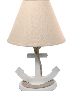 "DEI 19"" White Anchor Nautical Lamp"