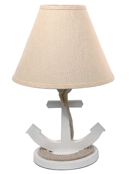 dei-19-white-table-lamp-anchor Nautical Themed Lamps