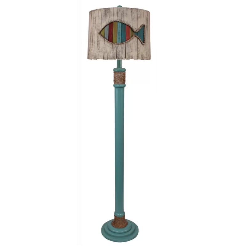 fish-shade-floor-lamp Coastal And Beach Floor Lamps