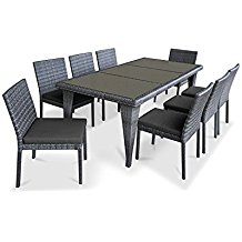 gray-wicker-patio-dining-set Best Wicker Patio Dining Sets