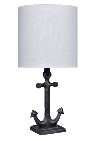 iron-anchor-nautical-table-lamp Nautical Themed Lamps