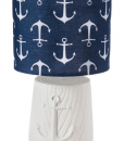 Killingworth Anchor Blue & White Lamp