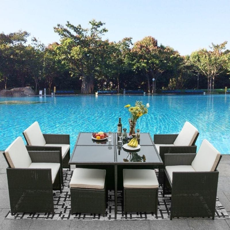 leisure-zone-9-piece-outdoor-wicker-dining-set-800x800 Wicker Patio Dining Sets