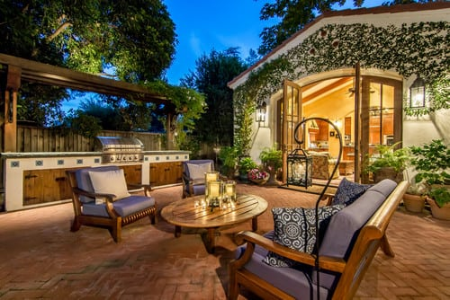mediterranean-patio 51 Teak Outdoor Furniture Ideas