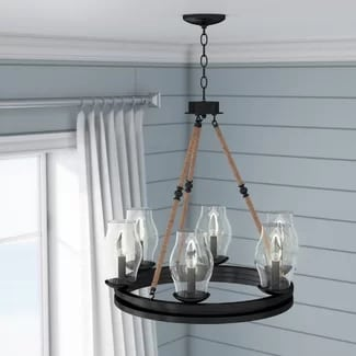 nautical-chandelier 101 Indoor Nautical Style Lighting Ideas