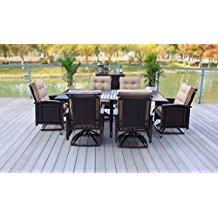 outdoor-premium-rattan-wicker-aluminum-dining-set Wicker Patio Dining Sets