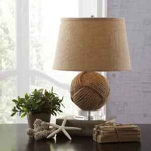 rope-lamp 101 Indoor Nautical Style Lighting Ideas