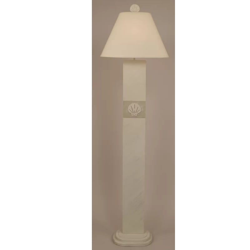 shell-panel-floor-lamp Coastal And Beach Floor Lamps