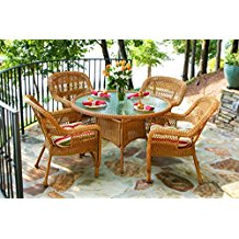 tortuga-outdoor-5-piece-wicker-dining-set Wicker Patio Dining Sets
