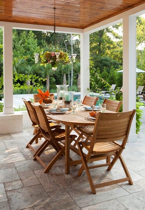 traditional-patio-3 51 Teak Outdoor Furniture Ideas