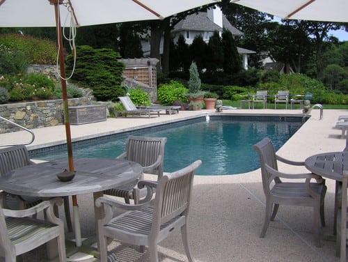 traditional-pool 51 Teak Outdoor Furniture Ideas