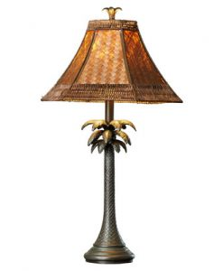 Bay Isle Galata Palm Tree Table Lamp