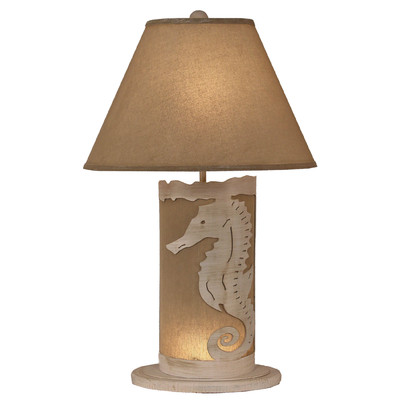 Coastal Living Seahorse Scene Panel Lamp