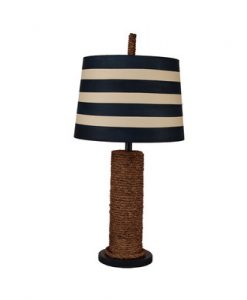 Coastal Manila Rope Themed Table Lamp