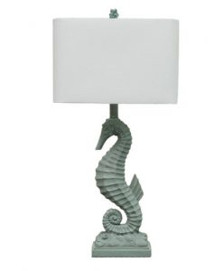 Beachcrest Oaknoll Seahorse Table Lamp