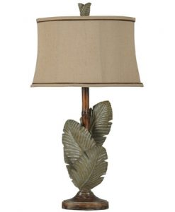 Frankfield Palm Leaves Tropical Table Lamp