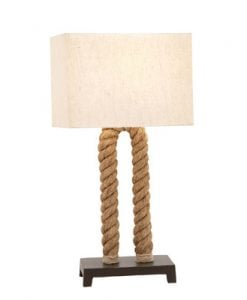 U Shaped Loop Pier Rope Table Lamp