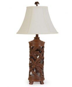 Island Way Craftsman Palm Tree Table Lamp