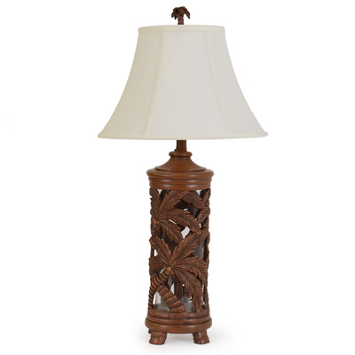 Island Way Craftsman Palm Tree Table Lamp