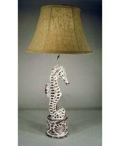 Beautiful Carved Seahorse Table Lamp