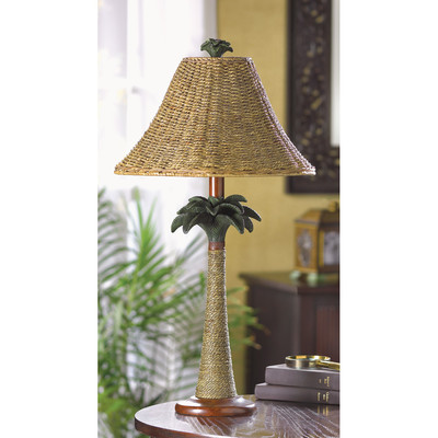 Bay Isle Harriet Palm Tree Table Lamp