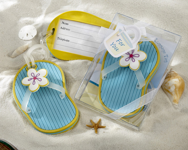 Flip-Flop-Luggage-Tag-Favor The Best Beach Wedding Favors You Can Buy