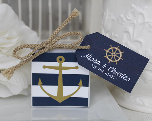 Personalized-Nautical-Anchor-Favor-Box The Best Beach Wedding Favors You Can Buy