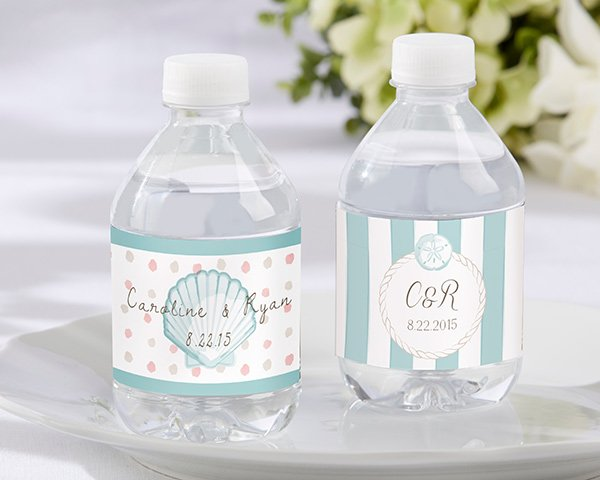 Personalized-Water-Bottle-Labels-Beach-Tides The Best Beach Wedding Favors You Can Buy