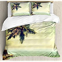 ambesonne-palm-tree-duvet-cover-set The Best Palm Tree Bedding and Comforter Sets