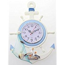 anchor-shipwheel-nautical-wall-clock-5 The Best Beach Wall Clocks You Can Buy
