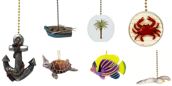 beach fan pull ornaments