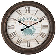 crabby-beach-large-clock-3 The Best Beach Wall Clocks You Can Buy