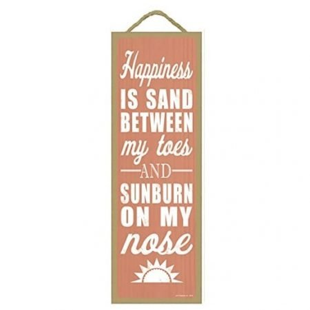 happiness-is-sand-between-my-toes-wooden-sign-450x450 100+ Wooden Beach Signs and Wooden Coastal Signs