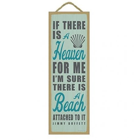if-there-is-a-heaven-it-has-a-beach-wooden-sign-jimmy-buffet-450x450 100+ Wooden Beach Signs and Wooden Coastal Signs