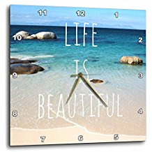 life-is-beautiful-beach-ocean-wall-clock-17 The Best Beach Wall Clocks You Can Buy