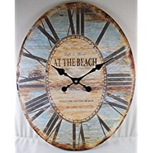 life-is-good-oval-large-wall-clock-2 The Best Beach Wall Clocks You Can Buy