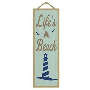 lifes-a-beach-wooden-sign-300x300 100+ Wooden Beach Signs & Wooden Coastal Signs