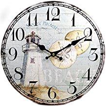 lighthouse-sand-dollar-wall-clock-9 The Best Beach Wall Clocks You Can Buy