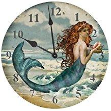 mermaid-ocean-wall-clock-15 The Best Beach Wall Clocks You Can Buy