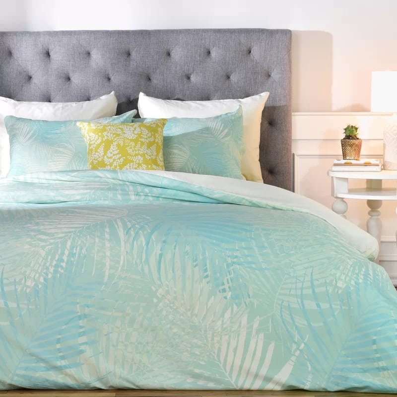 pale-palm-duvet-cover-set The Best Palm Tree Bedding and Comforter Sets
