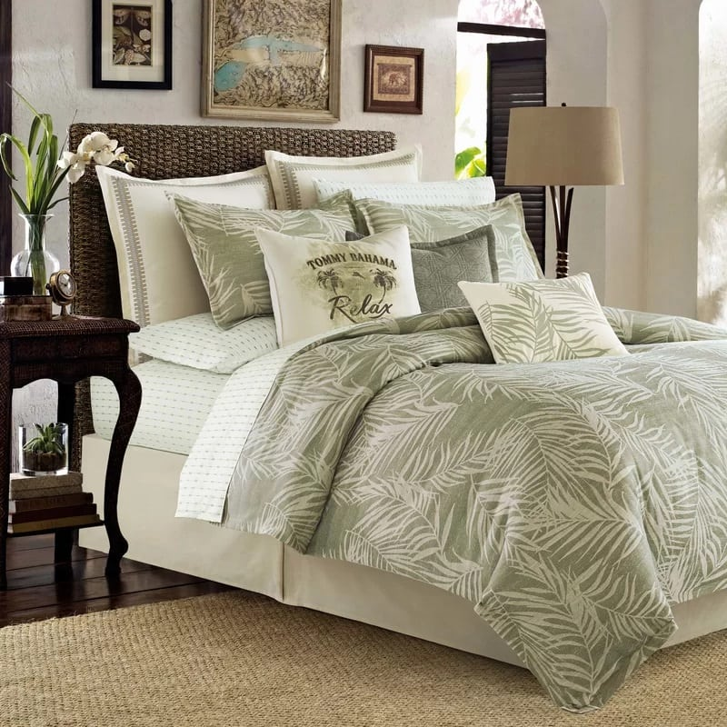 tommy-bahama-bedding-palms-away-duvet-cover-set The Best Palm Tree Bedding and Comforter Sets