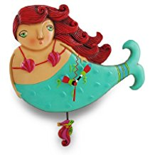 whimsical-mermaid-pendulum-wall-clock-3 The Best Beach Wall Clocks You Can Buy